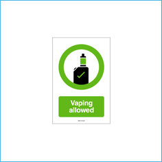 Vaping Allowed vinyl wall sticker (150x100mm)